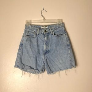 American Apparel High Waisted Cut Off Shorts